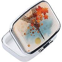 Preisvergleich für B Blesiya Tragbar Pillendose Tablettenboxen Pillenbox für Reisen, Pillen Organizer Pill Box Multifunktionale Medikamenten...
