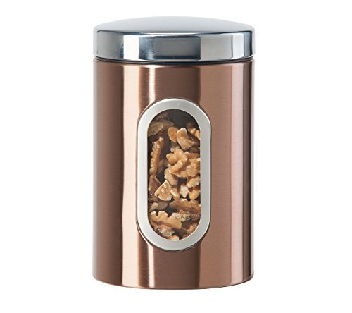 oggi-560112-coppertone-finish-stainless-steel-canister-with-window-52-oz-copper-by-oggi