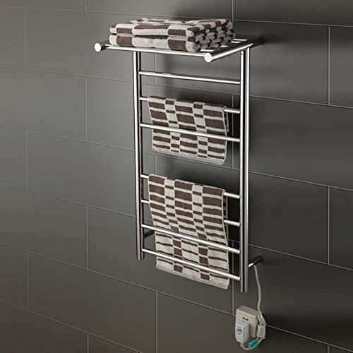 RENYAYA Elektrische Thermostatik-Badezimmer-Heizpult Anthrazit Flat Panel beheizter Handtuchschienenstrahler, 920 * 500 * 300mm-Edelstahl,201# -
