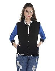 Campus Sutra Womens Plain Sweatshirt (AZW17_HVAR_W_PLN_BLRB_AZ_L)