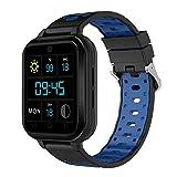 xinxinyu Smart Watch Android 6.0 4G Llamadas telefónicas 1G RAM 8G ROM GPS WiFi IP67 Waterproof Fitness Tracker Reloj de Pulsera Deportivo para Hombre y Mujer, Azul