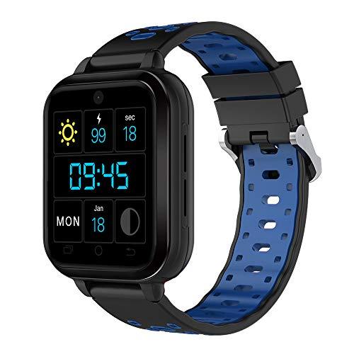 FeiliandaJJ Smartwatch Herren Damen Bluetooth GPS WiFi Wasserdicht Fitness Tracker 4G Telefon-Anruf Smartwatch SIM Karte Slot Schlaferkennung Kompatibel Android Phones,RAM 1GB + 8GB ROM (Blau)