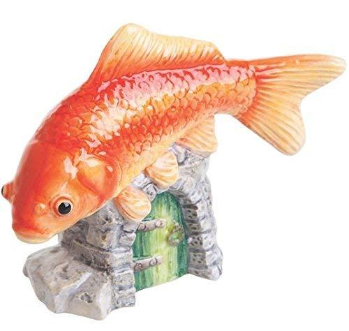 John Beswick Pet Pals Figurine Poisson Rouge, en faïence, Orange