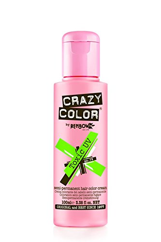 Crazy Color Semi-Permanent Hair Dye Renbow 4 x Toxic UV 100ml SHIPPING TO EUROPEAN COUNTRIES