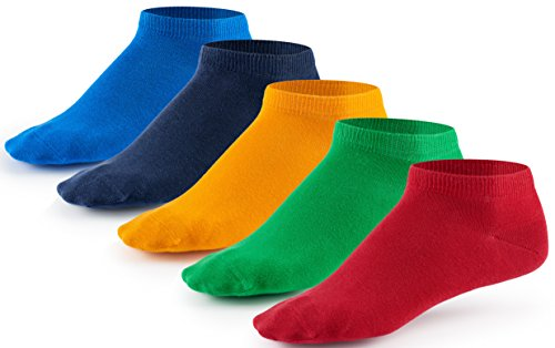 10 Paar Sneaker Socken von Mat & Vic's für Sie und Ihn | Cotton classic (35-38, Fun Colors - bunt) | 35 36 37 38 39 40 41 42 43 44 45 46 47 48 49 50 | OEKO-TEX Standard 100