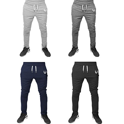 HDH Men's Fashion Hip Hop Long Baggy Pants Sweat Gym Sports Training Joggers Fitness Casual Rope Trousers