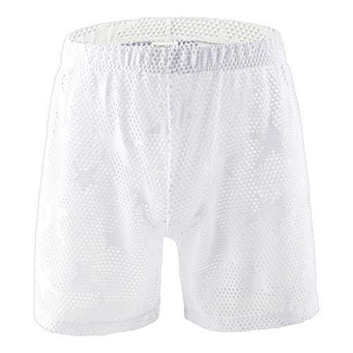 Bfmyxgs Sexy Männer Boy Unterwäsche Star Mesh atmungsaktiv Jacquard Hose Sexy transparente Unterwäsche Slips Slip Kurze Hosen Höschen Unterwäsche Unterhose Shorts