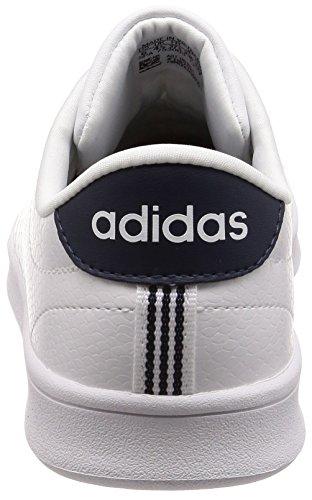 adidas Advantage Clean QT, Scarpe da Ginnastica Basse Donna Bianco (Footwear White/footwear White/collegiate Navy)