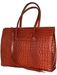 Cuir ladies business / Porte-documents / portable sac avec bandoulière Italie mod. p 2026 ( 40 / 28 / 13)