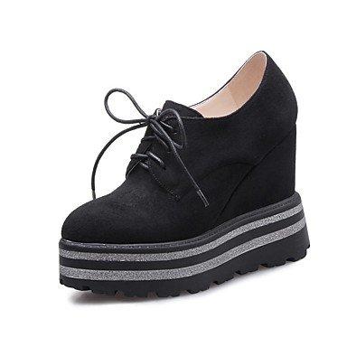 Sanmulyh Chaussures Femme Matériaux Personnalisés Automne Hiver Confort Mode Bottes Légères Talon Compensé Wedge Toe Fermé Toe Bottes Pour Bureau Et Noir