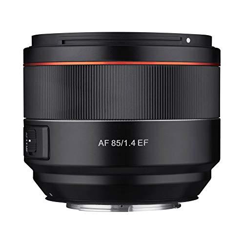Samyang AF 85mm F1.4 EF - 85mm Festbrennweite Autofokus Vollformat Objektiv für Canon Spiegellose und Spiegelreflex DSLR Vollformat und APS-C Kameras mit Canon EF Mount, 77mm Filtergewinde