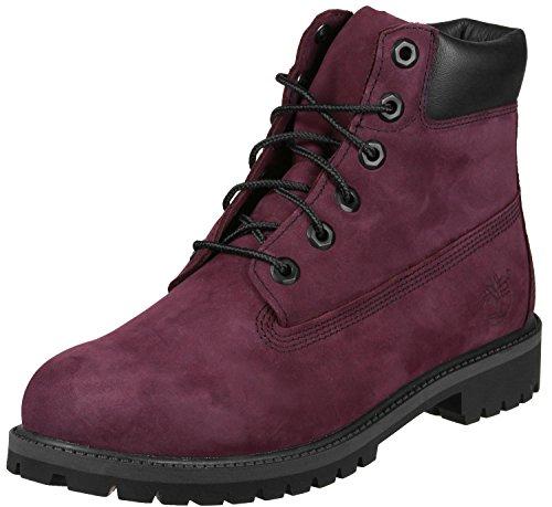 Timberland Kinder Junior 6-Inch Premium WP Boot Weinrot Leder Stiefel (Junior Stiefel)
