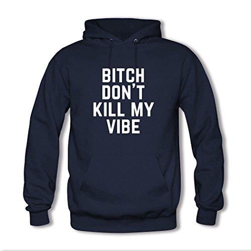 HKdiy Bitch Don't Kill My Vibe Custom Men's Printed Hoodie Navy-2