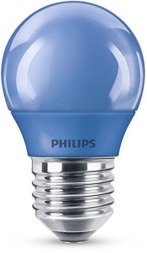 Philips LED Lampe, E27, Partylicht, blau, ideal zur Partybeleuchtung, Tropfen Blaue Led-licht