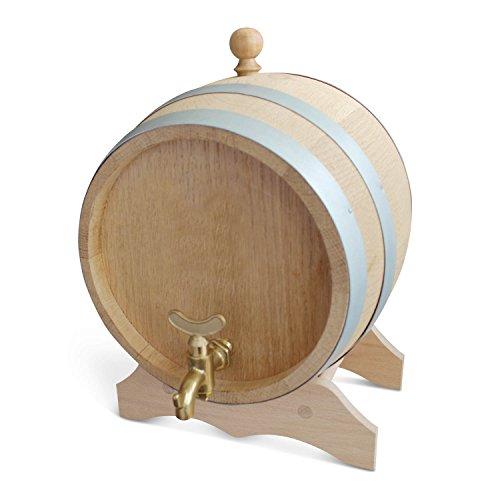 Unbekannt Eichenfass Schnapsfass Partyfass Weinfass blanko und Messinghahn - wählbar in verschiedenen Größen (10L)