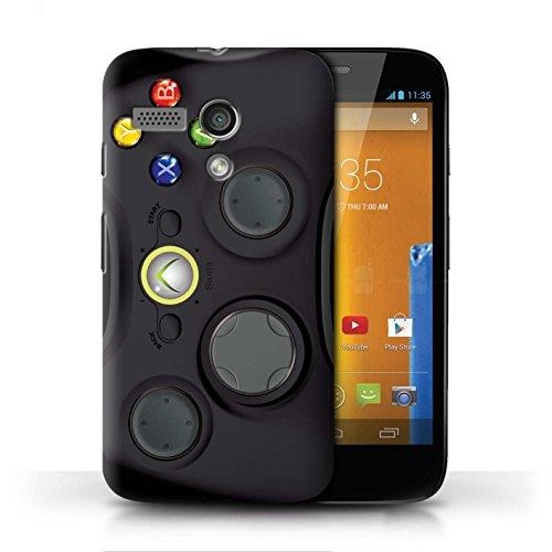 Etui / Coque pour Motorola MOTO G (2013) / Noir Xbox 360 conception / Collection de Console (jeux vidéo)