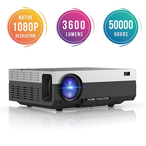 Proyector Full HD, Beamerking LED Proyector 1080P Resolución nativa de 1920 x...