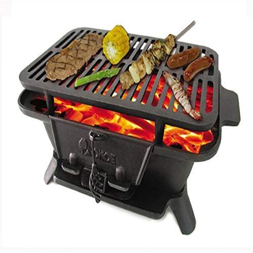 Chrom Gas-pfanne (YSYDE Cast Iron Sportsman's Grill, große Kohle Stil Grill, Nicht zerstören die Barbecue Protein und übt den frischen Geschmack des Essens, für Picknicks)