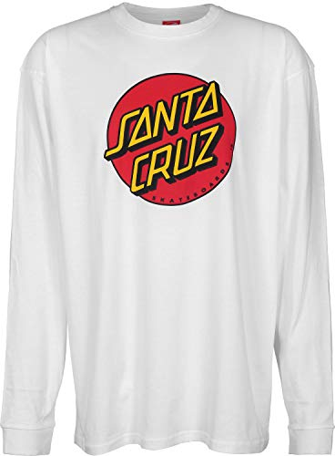 63e6af8e1fe Santa Cruz Tee Shirt à Manches Longues Classic Dot Blanc