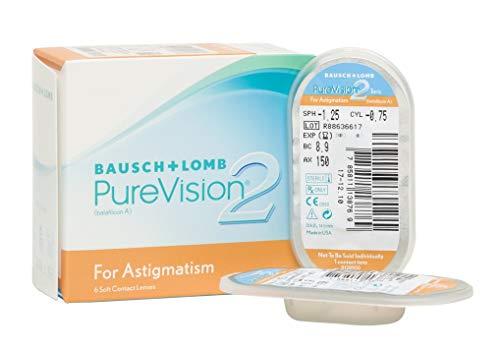 PureVision2 HD for Astigmatism Monatslinsen weich, 6 Stück / BC 8.90 mm / DIA 14.5 / CYL -0.75 / ACHSE 90 / -02.00 Dioptrien
