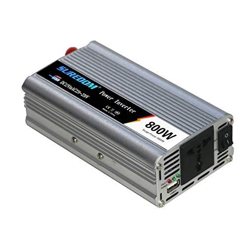 Wechselrichter 800 W Spitzenleistung 1600 W DC 12 V Bis 230 V AC-Wandler Mit Wechselstromsteckdose Und USB-Autoladegerät Zigarettenanzünder