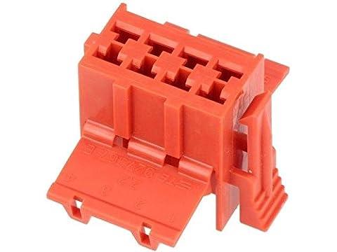 2x 927367-1 Connector wire-board Junior Timer plug female PIN8 red (Junior Board)