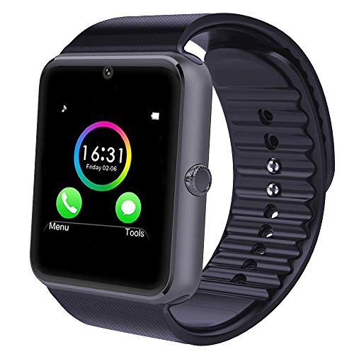 YAMAY Bluetooth Smartwatch Fitness Uhr Intelligente Armbanduhr Fitness Tracker Smart Watch Sport Uhr mit Kamera Schrittzähler Schlaftracker Romte Capture Kompatibel mit Android Smartphone (Samsung Handy-apps Galaxy)