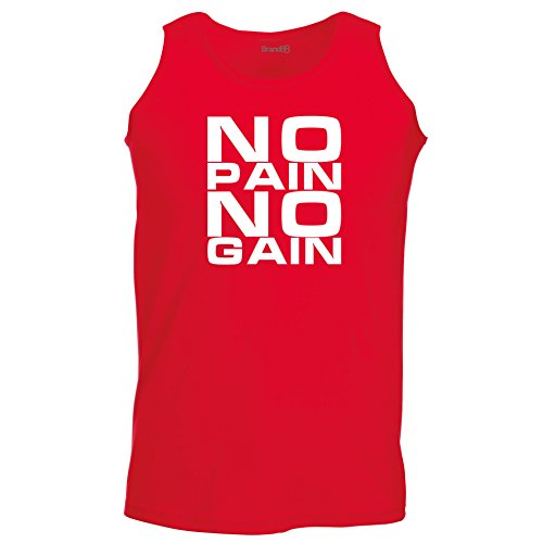 Brand88 - No Pain No Gain, Unisex Athletic Weste Rot