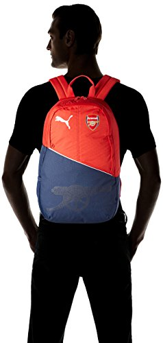 Puma Unisex Arsenal Fanwear Backpack Rucksack High Risk Red/White/Peacoat