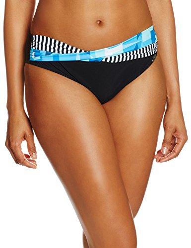 Sunflair Damen Bikinihose Bikini Slip Mix & Match Mehrfarbig (Schwarz/Türkis 923)