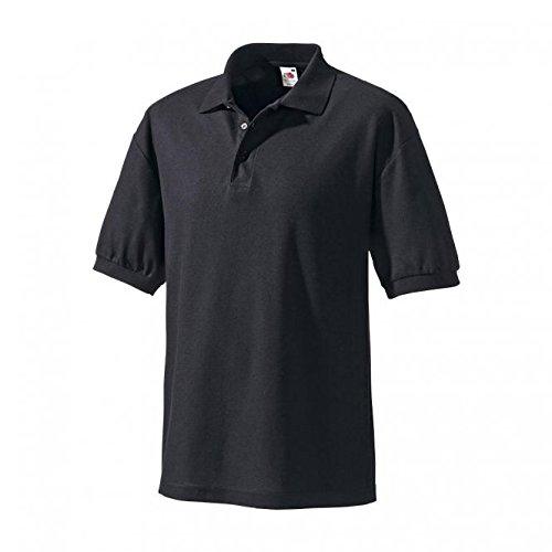 Preisvergleich Produktbild Fruit of the Loom Polo-Shirt schwarz | S