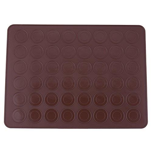 yunt Teppich Platten für Macarons Antihaftbeschichtung und wiederverwendbar aus weichem Silikon für 24Makronen Caf¨¦