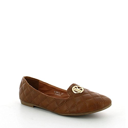 ideal-shoes-ballerines-slip-on-matelassees-ornees-dun-insigne-milka-camel-40