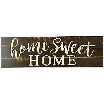Monsety Vintage Signs Plaque Home is My Happy Place Farmhouse Citation Home Panneau d/écoratif en Bois /à Suspendre Panneau de Porte