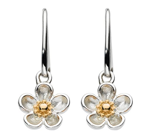 kit-heath-sterling-silver-and-gold-plate-wood-rose-drop-earrings
