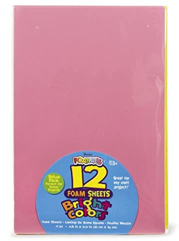 Darice Foam Sheets 12-inch x 18-inch -Bright Colors