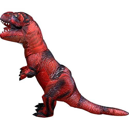Happy Sky Aufblasbarer Dinosaurier T-Rex Cosplay Kostüm für Erwachsene, T-Rex - Rot -