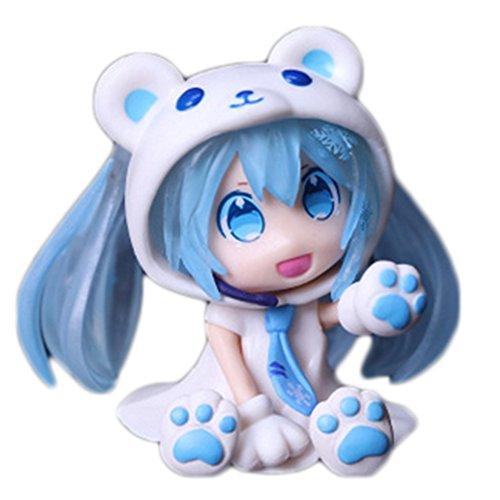 Loheag Clinor Hatsune Miku Figur Original Anime Action Figur Kawaii Hatsune Miku Puppe Sammlung und Beste Geschenk für Kinder, Mädchen, Erwachsene und Fans von Hatsune Miku (Blau)