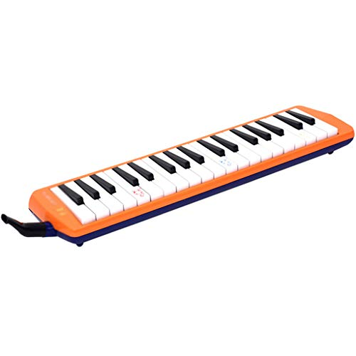 Melodica-Instrument, 36-Tasten-Klassenzimmer für Schüler, Anfänger, Erwachsene, Spielinstrumente orange.