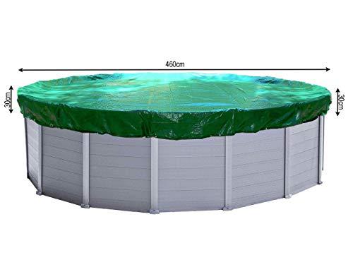 QUICK STAR Cubierta de piscina de invierno redonda 180g / m² para Poolsize 420 - 460 cm Dimensión...