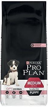 Pro Plan Medium Puppy Sensitive Skin avec Optiderma Riche en Saumon - 12 KG - Croquettes pour Chiot de Taille Moyenne