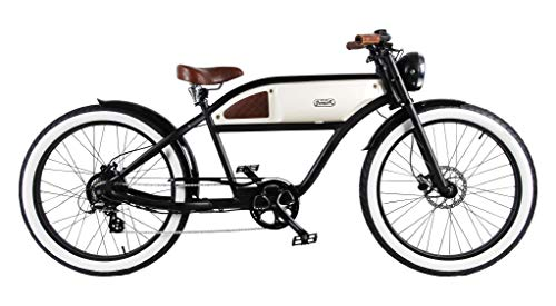 Blast Bikes - The Classic Black + Beige Greaser - Retro Pedelec Vintage Fahrrad Schwarz -