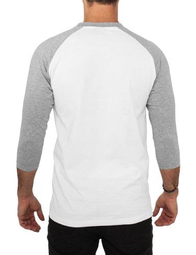 Urban Classics Herren Langarmshirt Bekleidung T-Shirt Wht/Gry