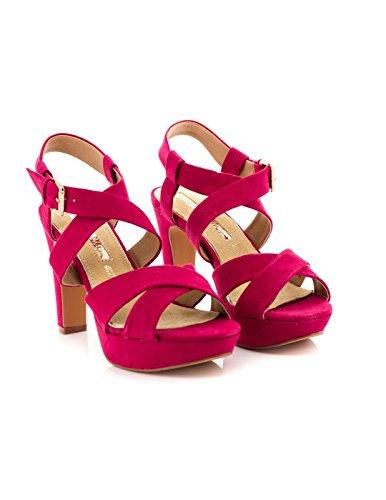 Sandale Maria Mare Textile Fuchsia 66815 Rouge