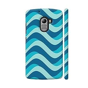 Colorpur Blue Marine Waves Artwork On Lenovo K4 Note Cover (Designer Mobile Back Case) | Artist: Neeja Shah