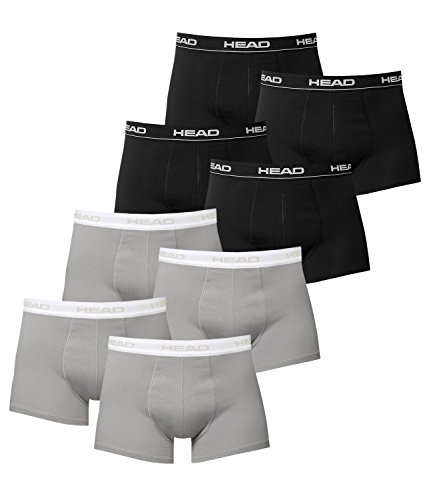 HEAD MEN TIPO BOXER BASIC BOXER 8 UNIDADES) 4X SCHWARZ / 4X GREY L