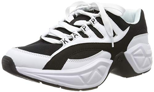 Kappa Overton, Zapatillas Unisex Adulto, White/Black