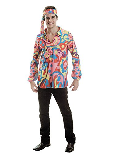 AM Hippie Herren Karneval Kostüm Fasching Party 70er One Size (Für Herren Hippie-kostüm)