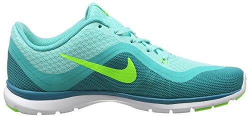 Nike Wmns Flex Trainer 6, Baskets Basses Femme, Taille Turquesa (Hypr Trq / Elctr Grn-Enrgy-Hypr)