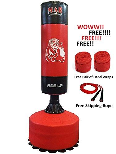 M.A.R International Ltd. MAR Heavy Duty freistehend Boxen und Boxsack-Ständer Martial Arts MMA Karate mit Freie Hand Wrap & Springseil